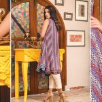 MTF Embroidered Printed Lawn Kurti d-1a