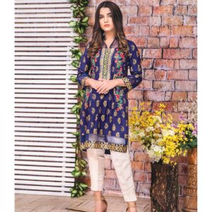 MTF Embroidered Printed Lawn Kurti d-2a