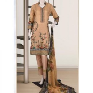 Malhaar Embroidery Collection d-03 Lawn 3pc Suit