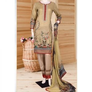 Malhaar Embroidery Collection d-07 Lawn 3pc Suit
