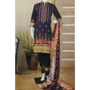 Malhaar Embroidery Collection d-11 Lawn 3pc Suit
