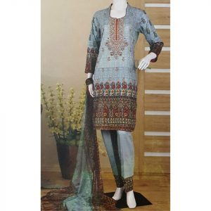 Malhaar Embroidery Collection d-12 Lawn 3pc Suit