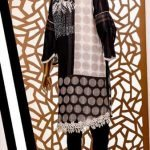 Black and White by Moosa Jee Lawn Kurti d-241