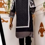 Black and White by Moosa Jee Lawn Kurti d-243