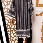 Black and White by Moosa Jee Lawn Kurti d-244