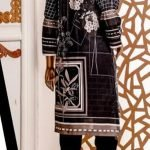 Black and White by Moosa Jee Lawn Kurti d-245