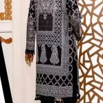 Black and White by Moosa Jee Lawn Kurti d-246