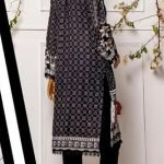 Black and White by Moosa Jee Lawn Kurti d-247