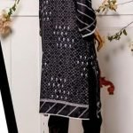 Black and White by Moosa Jee Lawn Kurti d-248