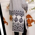 Black and White by Moosa Jee Lawn Kurti d-249