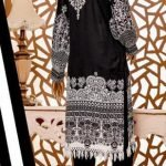 Black and White by Moosa Jee Lawn Kurti d-250