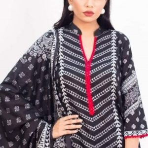 Rang Reza B&W d-02 3pc Lawn Suit