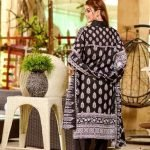 Three Star Black & White 3pc Lawn Suit d-02