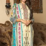 MTF Embroidered Cambric 3pc Suit d-05