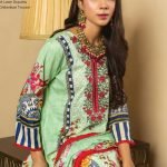 MTF Embroidered Cambric 3pc Suit d-10