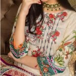 MTF Embroidered Cambric 3pc Suit d-03