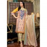 Fashion by MTF Embroidered Cambric 3pc Suit d-02