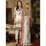 Fashion by MTF Embroidered Cambric 3pc Suit d-03