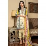 Fashion by MTF Embroidered Cambric 3pc Suit d-06