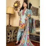 Fashion by MTF Embroidered Cambric 3pc Suit d-09