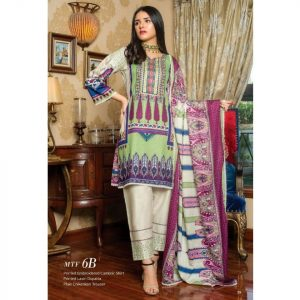 Fashion by MTF Embroidered Cambric 3pc Suit d-12