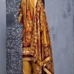 Mishal Linen Embroidered 3pc Suit d-01
