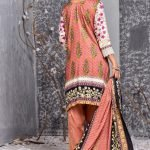 Mishal Linen Embroidered 3pc Suit d-03