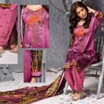 Mishal Linen Embroidered 3pc Suit d-04