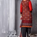 Mishal Linen Embroidered 3pc Suit d-05