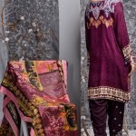 Mishal Linen Embroidered 3pc Suit d-07