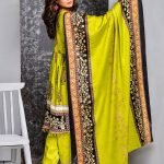 Mishal Linen Embroidered 3pc Suit d-08