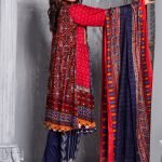 Mishal Linen Embroidered 3pc Suit d-10