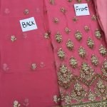 Fuchsia V-02 Embroidered Chiffon 3pc Suit d-02