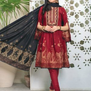 Fabulous Flairs by MTF Lawn Embroidered Jacquard Banarsi d-01