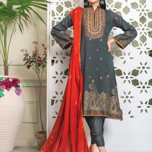 Fabulous Flairs by MTF Lawn Embroidered Jacquard Banarsi d-04