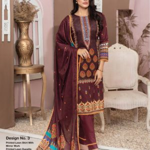 Casual Cool by MTF Digital Printed Lawn with Mirror Work d-03