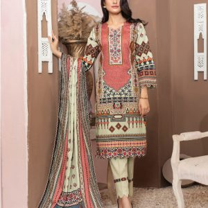 Casual Cool by MTF Digital Printed Lawn with Mirror Work d-04