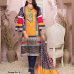 Casual Cool by MTF Digital Printed Lawn with Mirror Work d-05