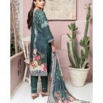 Casual Cool by MTF Digital Printed Lawn with Mirror Work d-06