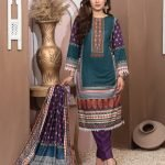 Casual Cool by MTF Digital Printed Lawn with Mirror Work d-08