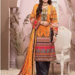 Casual Cool by MTF Digital Printed Lawn with Mirror Work d-09