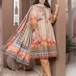 Casual Cool by MTF Digital Printed Lawn with Mirror Work d-10