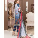 Casual Cool by MTF Digital Printed Lawn with Mirror Work d-11