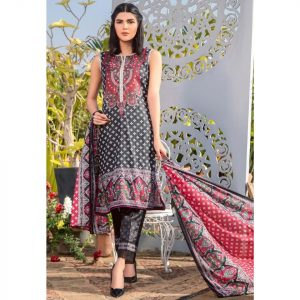 Three Star Unstitched 3pc Printed Lawn Suit S4-00B