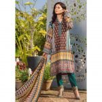 Three Star Unstitched 3pc Printed Lawn Suit S5-00A