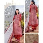 Three Star Unstitched 3pc Printed Lawn Suit S9-00B