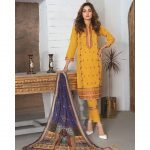 Elegance by MTF Jacquard Embroidered Shirt with Silk Dupatta 3pc Lawn Suit d-01