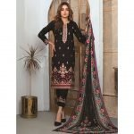 Elegance by MTF Jacquard Embroidered Shirt with Silk Dupatta 3pc Lawn Suit d-02