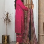 Elegance by MTF Jacquard Embroidered Shirt with Silk Dupatta 3pc Lawn Suit d-03
