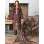 Elegance by MTF Jacquard Embroidered Shirt with Silk Dupatta 3pc Lawn Suit d-04